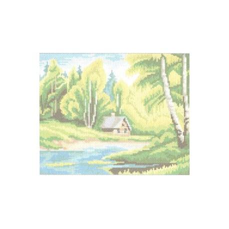 """724 Канва с рисунком """"Природа"""" (Искусница)"""