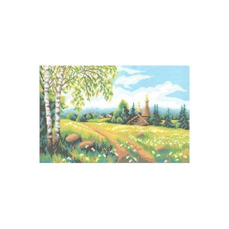 """724 Рисунок на канве """"Берёзы2"""" (Искусница)"""