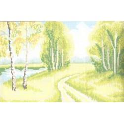 """731 Рисунок на канве """"Тропинка"""" (Искусница)"""