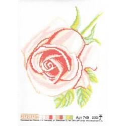 """749 Рисунок на канве """"Роза"""" (Искусница)"""