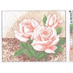 """956 Рисунок на канве """"Розы 1"""" (Искусница)"""