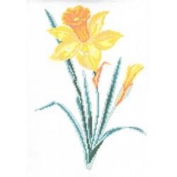 "770 Рисунок на канве ""Нарцисс"" (Искусница)"