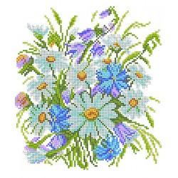 4502 Луговые цветы (Рисунок на шёлке)