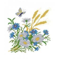 4503 Полевые цветы (Рисунок на шёлке)