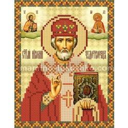 РИП-5203 Св. Николай Чудотворец. Рисунок на шёлке.