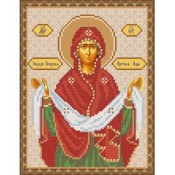 РИП-009 Покров Пресвятой Богородицы. Рисунок на шёлке.