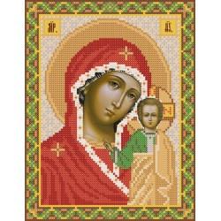 РИП-002 Богородица Казанская. Рисунок на шёлке.