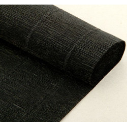 002 Бумага гофрированная, 602,чёрная