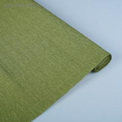 021 Бумага гофрированная, грязно-зелёная