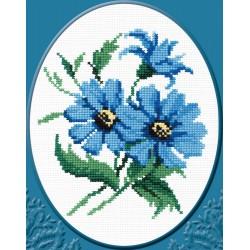 174 Синие цветочки ( РС - Студия)