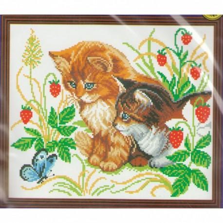 029(БМ) Котята и бабочки. Искусница.