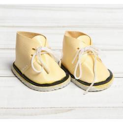 Ботинки для куклы, кремовые