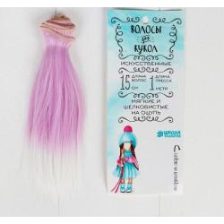"""Волосы - трессы для кукол """"Прямые короткие"""""""