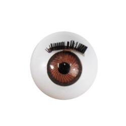 Глазки с ресничками круглые, 14мм