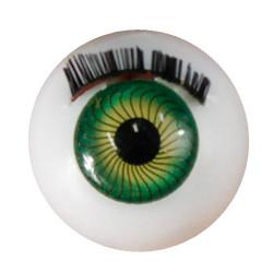 Глазки с ресничками круглые, 20 мм