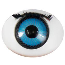 Глазки с ресничками овал, 16х21 мм