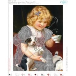 В263  Девочка с собакой