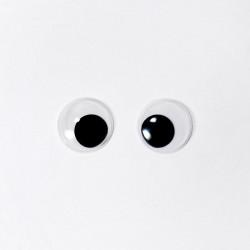 Глазки бегающие клеевые 15 мм