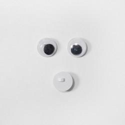 Глазки бегающие клеевые 10 мм