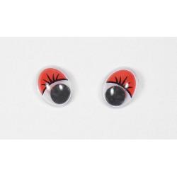 Глазки бегающие клеевые 10 Х 13 мм
