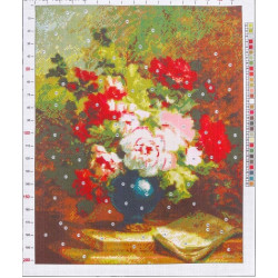 589 Рисунок на канве «Эмиль Генри Брюннер. Пионы»