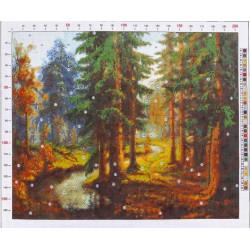 698 Рисунок на канве «Карл Розен. Река в лесу»