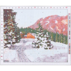 """705 Рисунок на канве """"Бессонов. Зимний пейзаж"""""""