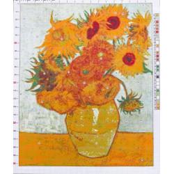 """733 Рисунок на канве """"Ван Гог. Подсолнухи"""""""