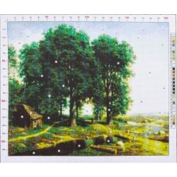 752 Рисунок на канве «Клодт. Дубовая роща»