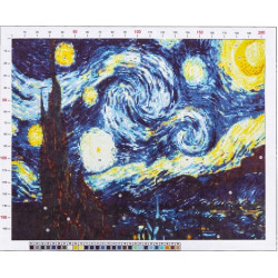 761 Рисунок на канве «Ван Гог. Звёздная ночь»