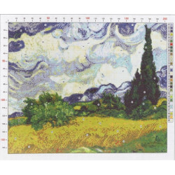 788 Рисунок на канве «Ван Гог. Рожь»