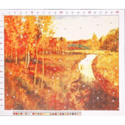 789 Рисунок на канве «Левитан. Золотая осень»