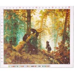 795 Рисунок на канве «Шишкин. Утро в сосновом бору»