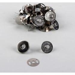 Кнопки магнитные, серебро