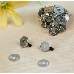 Кнопки магнитные маленькие, серебро