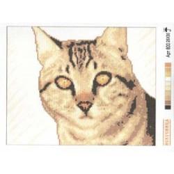 """800 Рисунок на канве """"Кошка серая"""""""